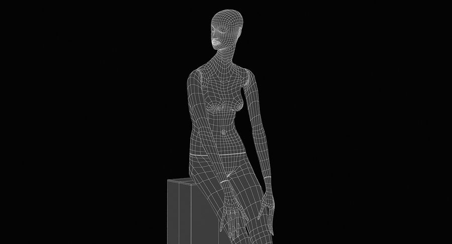 Pose de manequim distante Bonaveri D royalty-free 3d model - Preview no. 13