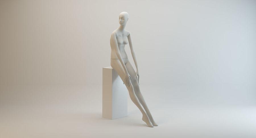 Pose de manequim distante Bonaveri D royalty-free 3d model - Preview no. 3