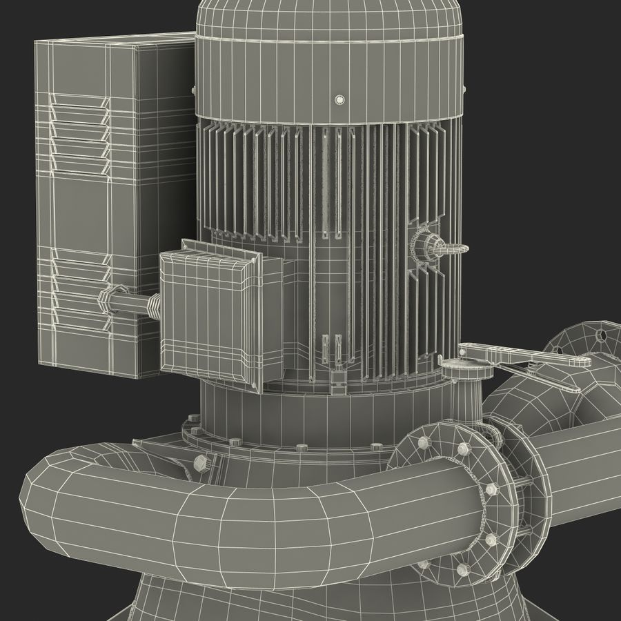 マイクロ水力発電機 royalty-free 3d model - Preview no. 32