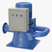 Micro Hydro Turbine Power Generator 3d model