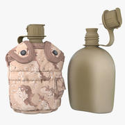 1QT Military Canteen 3 (Wüste) 3d model