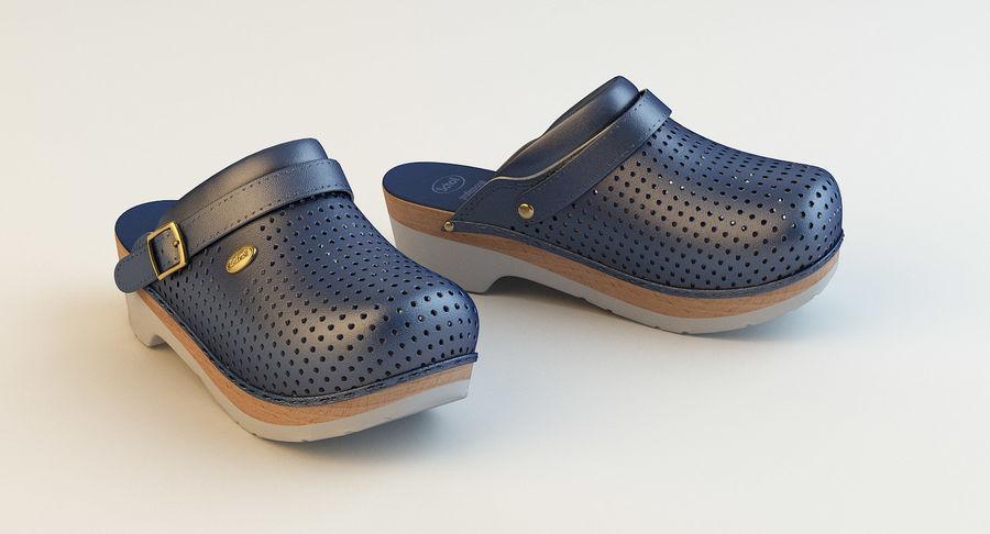 Scholl Comfort Medical Clogs Blue 3D