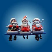 Tre sjungande jultomten 3d model