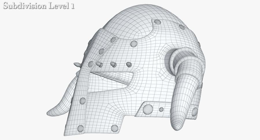 Dark Lord Helmet royalty-free 3d model - Preview no. 19