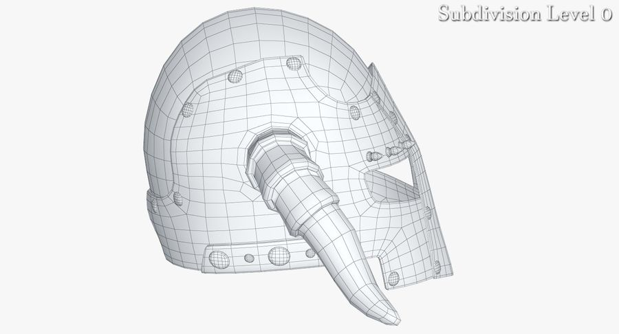 Dark Lord Helmet royalty-free 3d model - Preview no. 9