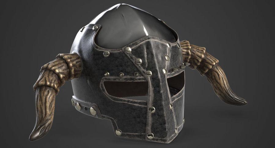 Dark Lord Helmet royalty-free 3d model - Preview no. 3