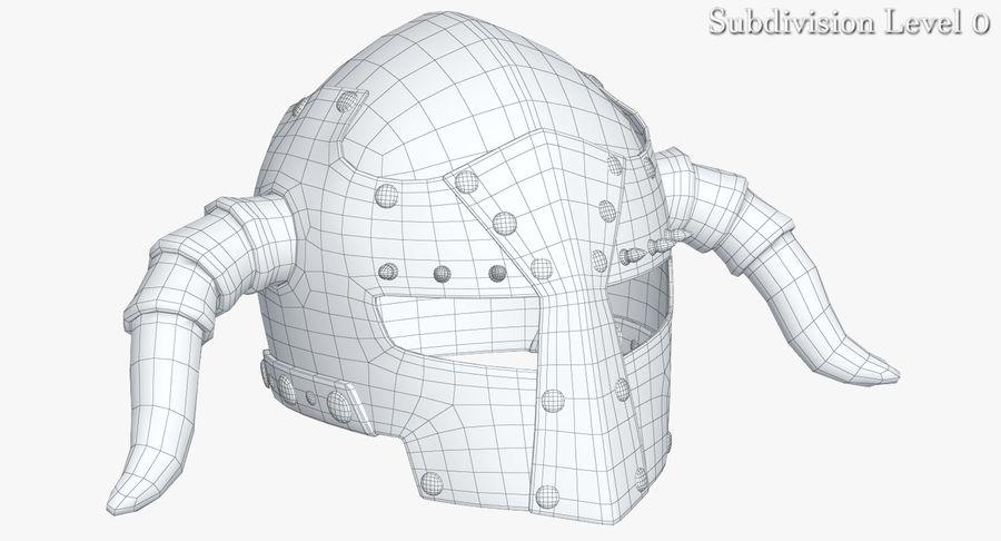 Dark Lord Helmet royalty-free 3d model - Preview no. 12