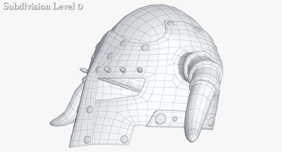 Dark Lord Helmet royalty-free 3d model - Preview no. 18