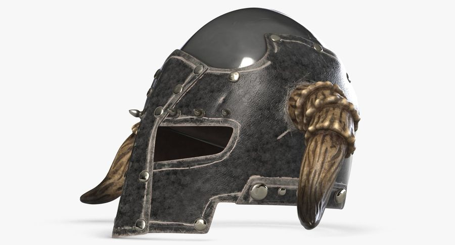 Dark Lord Helmet royalty-free 3d model - Preview no. 7