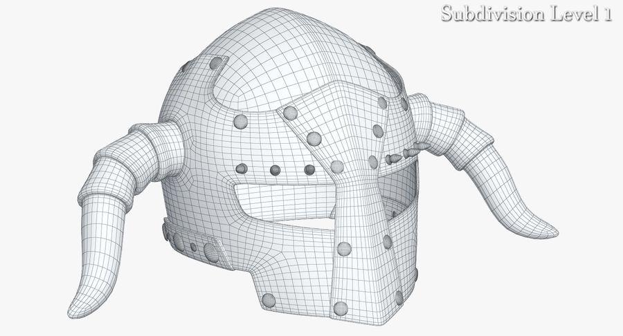 Dark Lord Helmet royalty-free 3d model - Preview no. 13