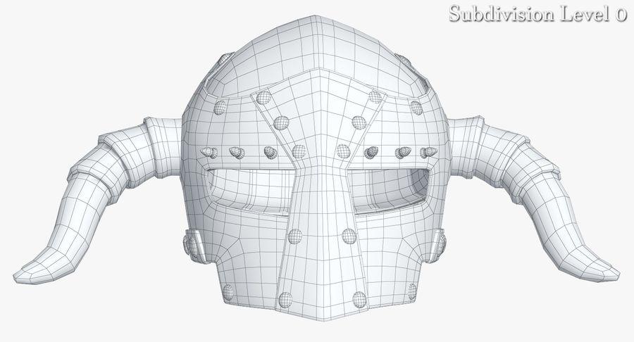 Dark Lord Helmet royalty-free 3d model - Preview no. 14