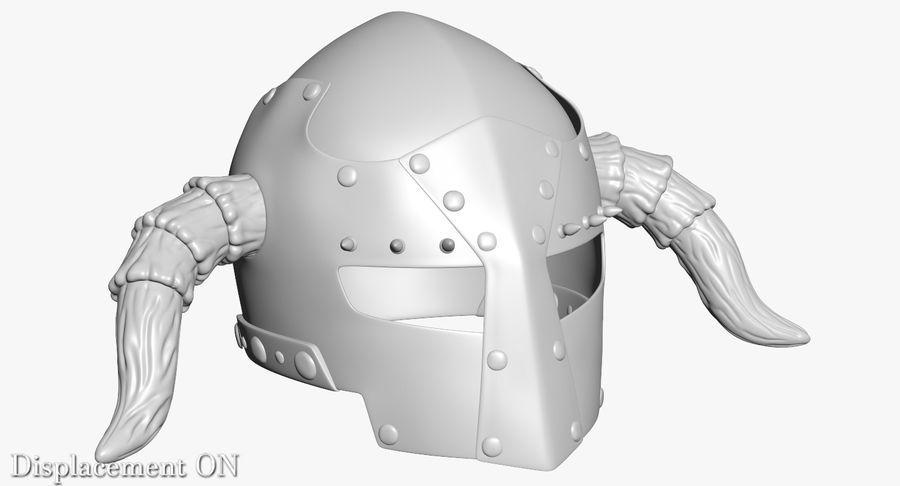 Dark Lord Helmet royalty-free 3d model - Preview no. 17
