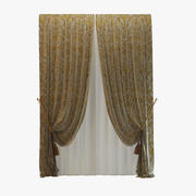 Rubelli Luxury Curtain 3d model