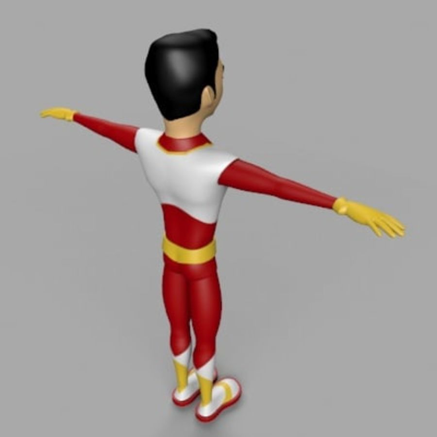 Cartoon Hero royalty-free 3d model - Preview no. 3