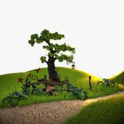 Cartoon Plants 3d model