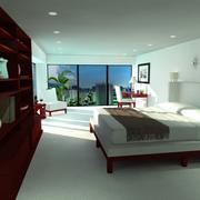Scena w sypialni 3d model