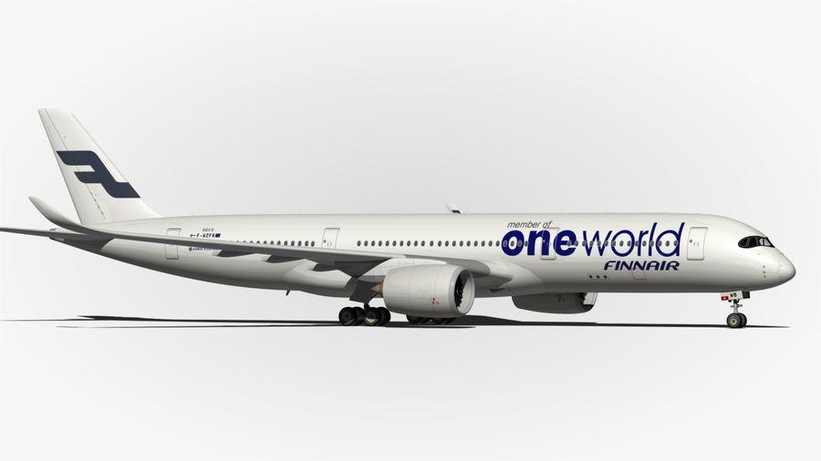 空中客车A350 900 Finnair royalty-free 3d model - Preview no. 7