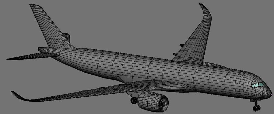 空中客车A350 900 Finnair royalty-free 3d model - Preview no. 12