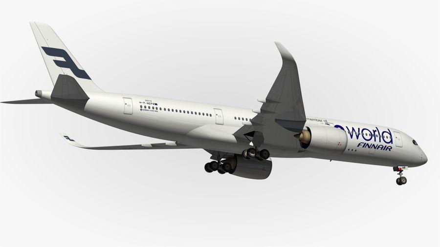 Airbus A350 900 Finnair royalty-free 3d model - Preview no. 4