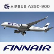 Airbus A350 900 Finnair 3d model