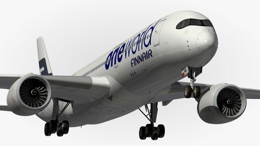 Airbus A350 900 Finnair royalty-free 3d model - Preview no. 2