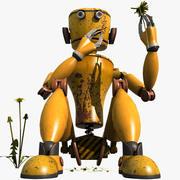 Желтый робот 3d model