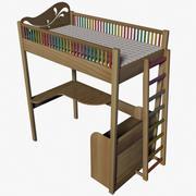어린이 침대 3d model