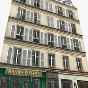 Oud Parijs huis 3d model