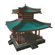 Китайская пагода 3d model