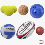 Sport Balls 3D模型集合2 3d model