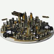 Sci-fi City Futurescape Cityscape 1 - Sci Fi Modular Environment Pro HD 3d model