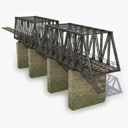모듈 형 철도 교량 5 3d model