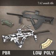 7.62 Assault rifle PBR 3d model
