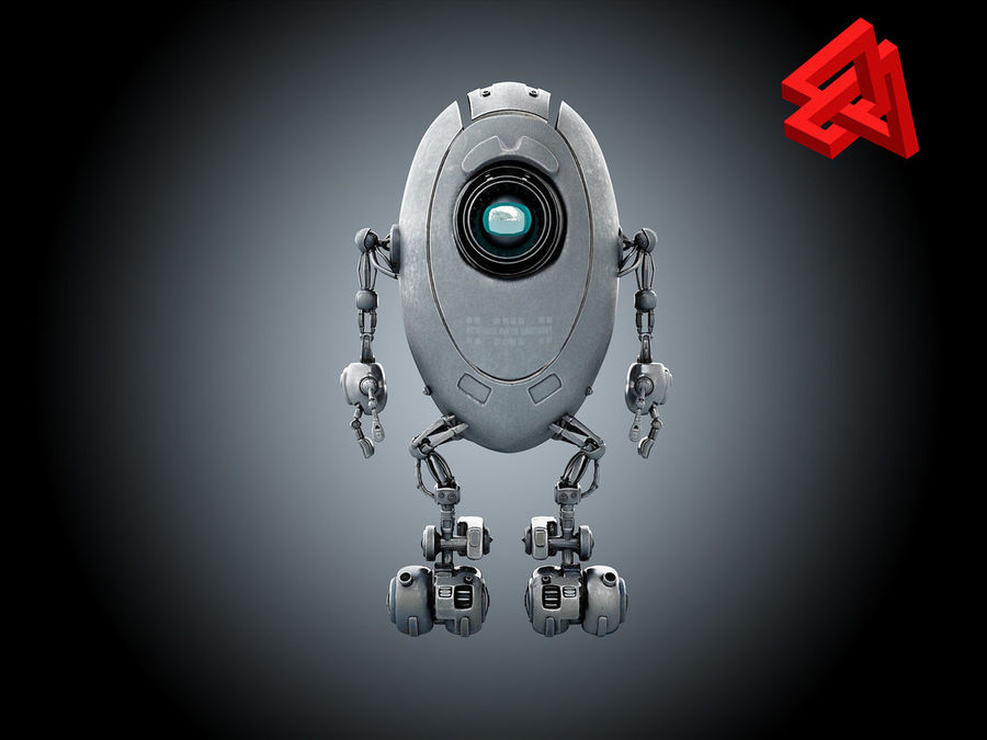 Sci-Fi droid royalty-free 3d model - Preview no. 1