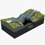 月亮桥 3d model