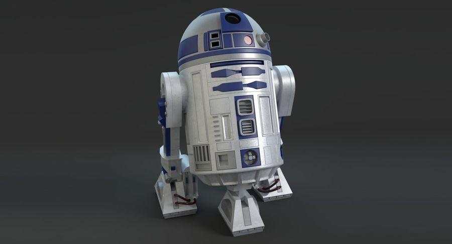 R2D2 royalty-free 3d model - Preview no. 3