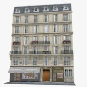 European Classic Tenement House Paris 3d model
