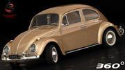 Volkswagen Beetle 1962 3d model