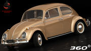 Volkswagen Beetle 1962 3d model