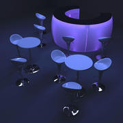 Collection de meubles de bar 3d model