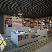 Librería modelo 3d