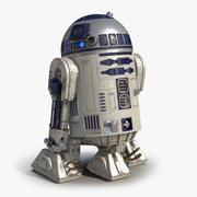 R2 D2 Rigged 3D 모델 3d model