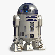 Star Wars Character R2 D2 Rigged 3D Model 3d model