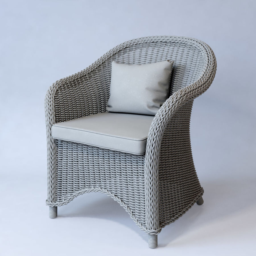 Rattan furniture collection royalty-free 3d model - Preview no. 56