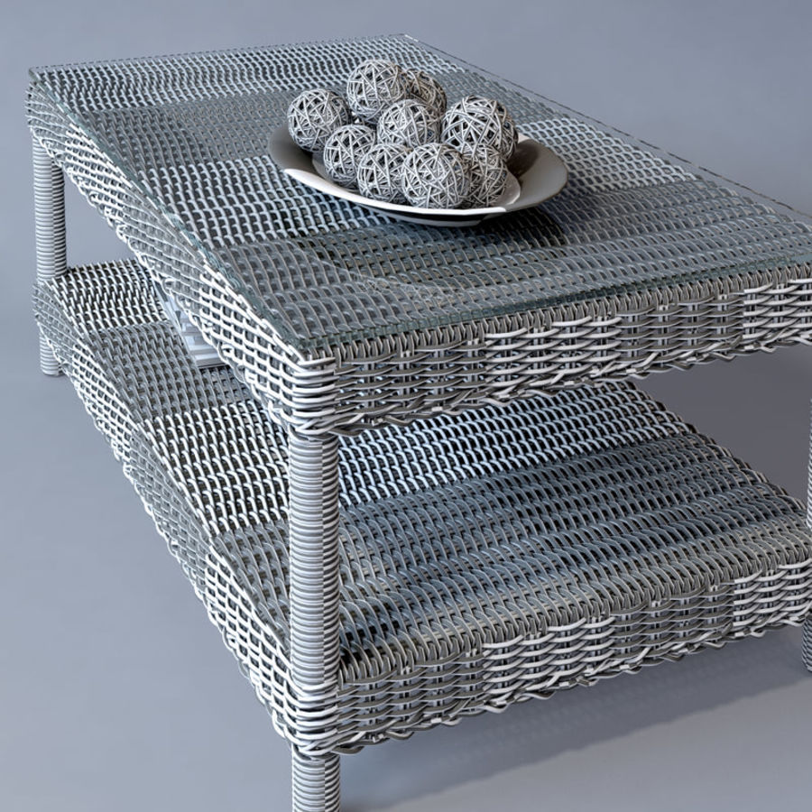 Rattan furniture collection royalty-free 3d model - Preview no. 41