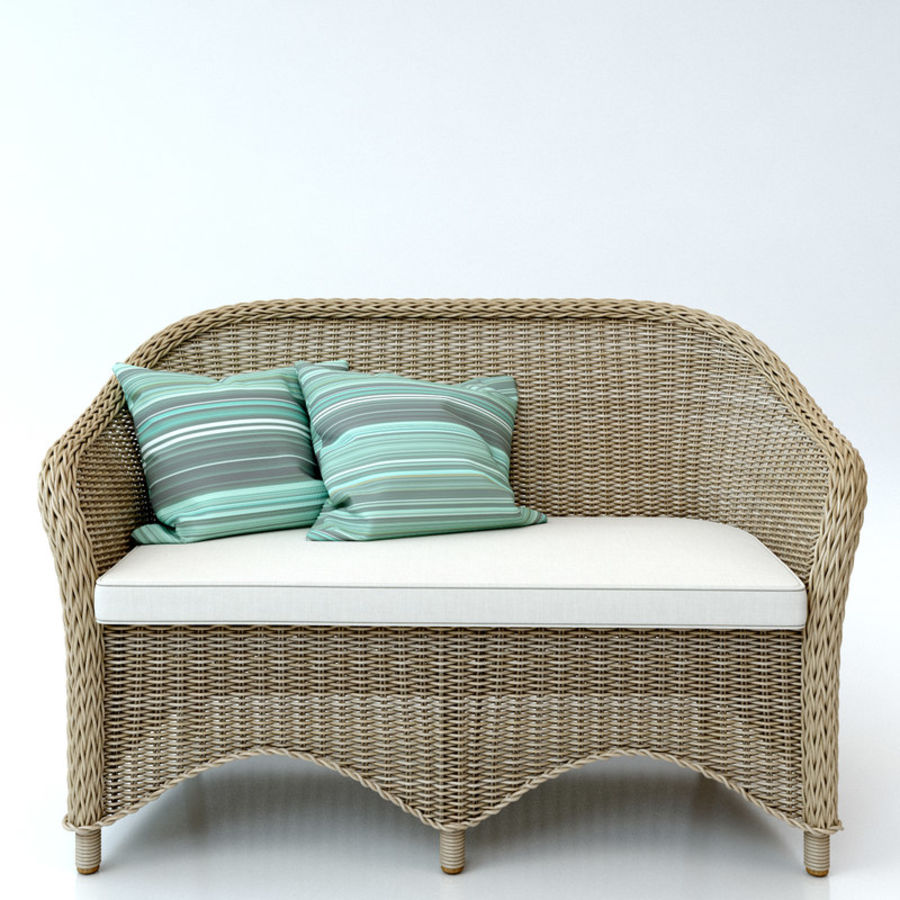Rattan furniture collection royalty-free 3d model - Preview no. 18