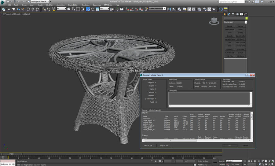 Rattan furniture collection royalty-free 3d model - Preview no. 26