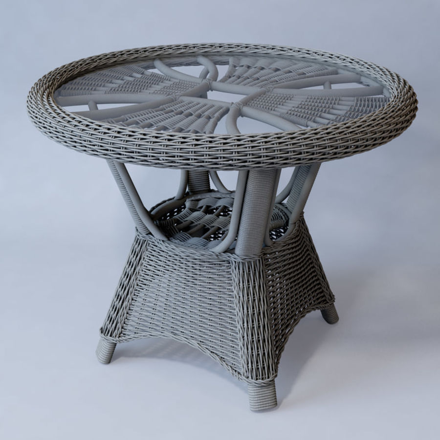 Rattan furniture collection royalty-free 3d model - Preview no. 48