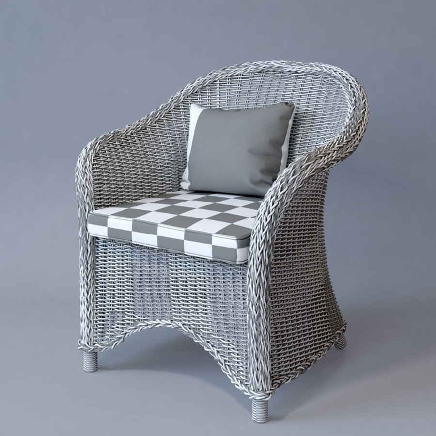Rattan furniture collection royalty-free 3d model - Preview no. 53