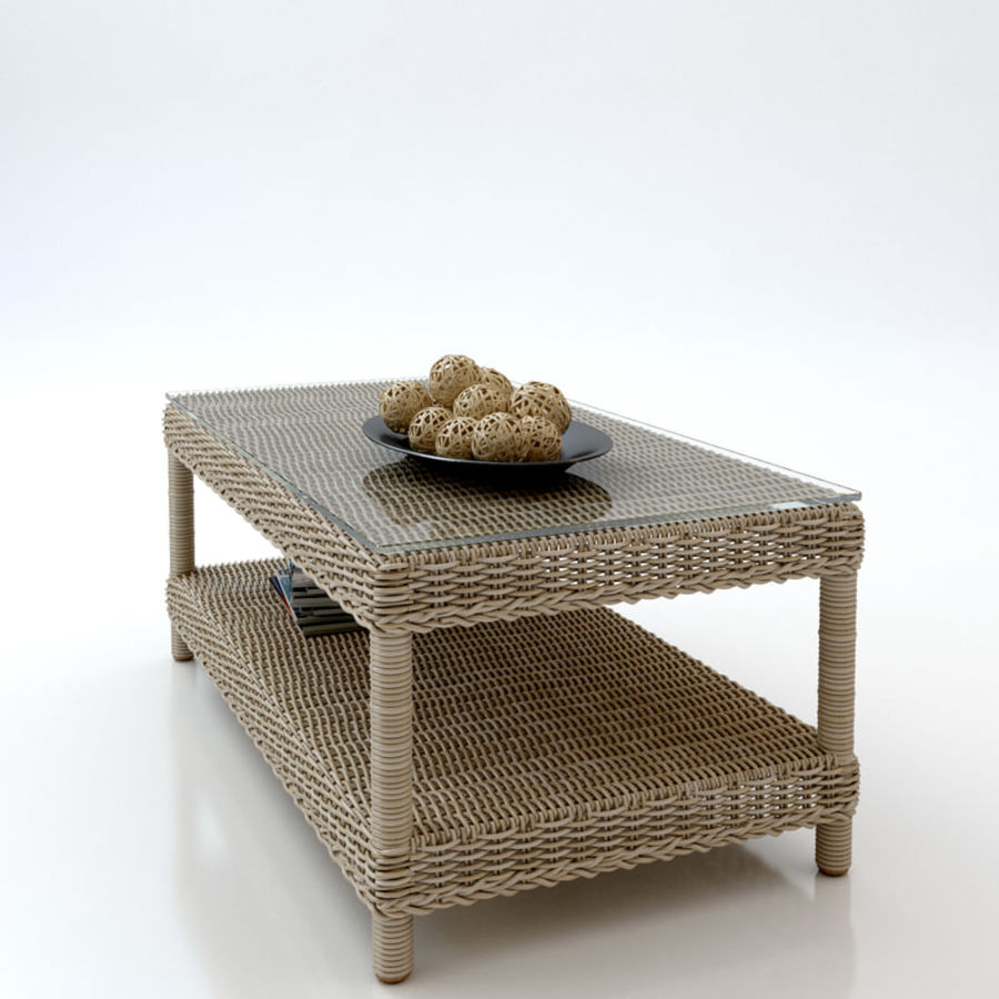 Rattan furniture collection royalty-free 3d model - Preview no. 14